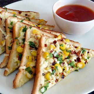 Corn Chilli Cheese Toast